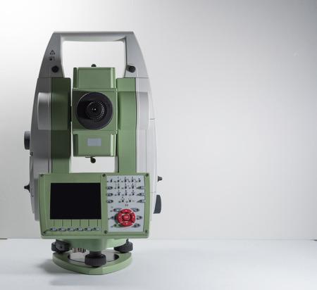 Electronic theodolite for land surveyor engineer 스톡 콘텐츠