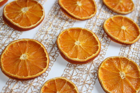 dried oranges photo