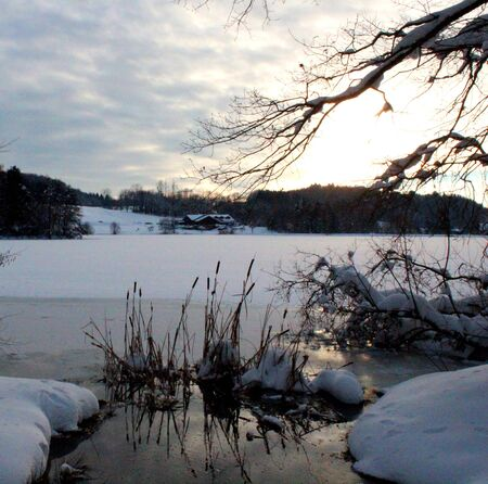 snowy pond photo