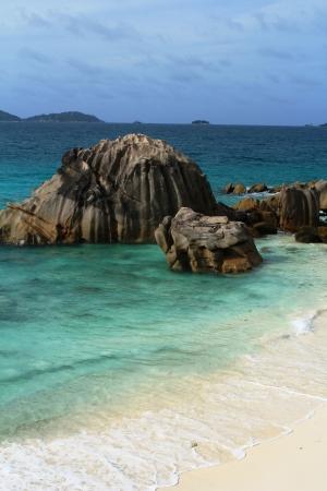 Beach, cove anse patate , Seychelles islands photo