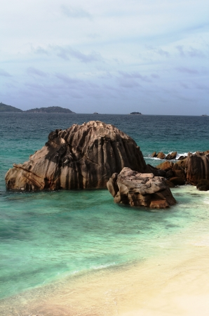 Beach,cove anse patate , Seychelles islands photo