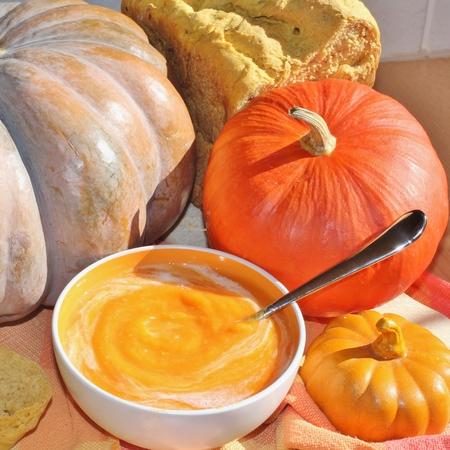 soup, pumpkin soup Stock Photo