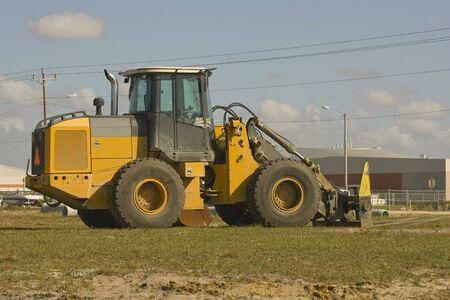 loader: A forkliftfrontend loader during a lunch break