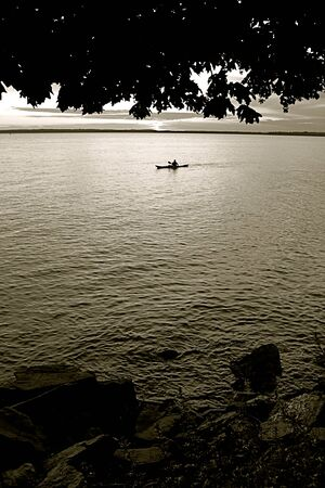 kayak in the ocean