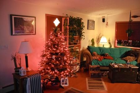 Living room on Christmas Редакционное