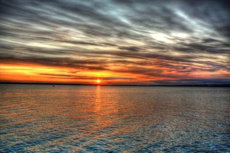 HDR sunset Фото со стока