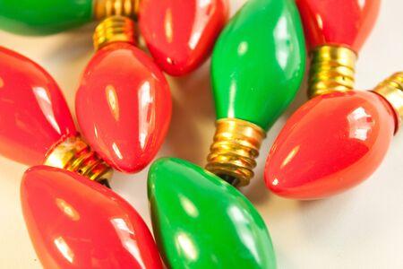 Christmas light bulbs Фото со стока