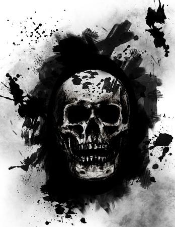 cr�nes: Cr�ne grunge Banque d'images