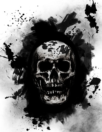 Grunge Skull photo