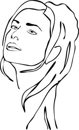female face closeup: Woman Face