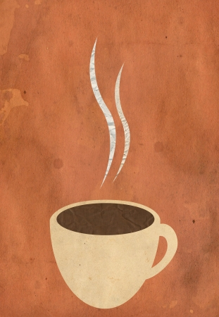 coffe cup paper illustration background