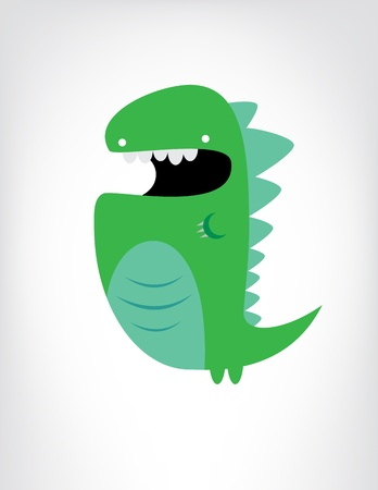 Green dinosaur cartoon Stock Photo - 20214035