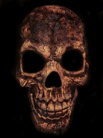 scary skull on black background