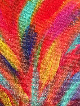 Close up of a colorful painting Фото со стока