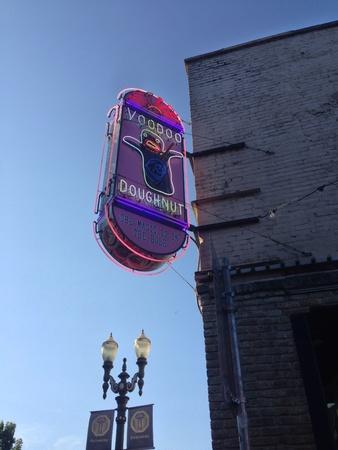Voodoo doughnut sign in Portland Oregon.