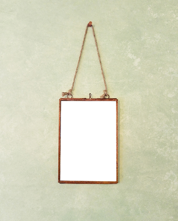Blank Vintage Hanging Picture Frame Фото со стока