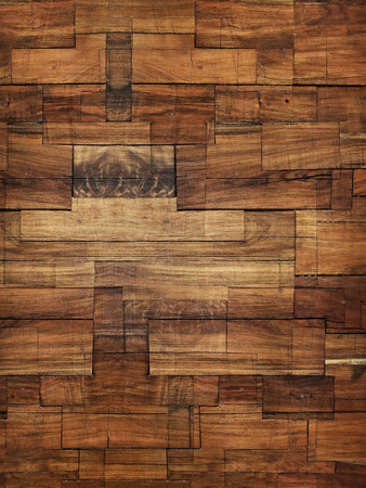 Modern Stained Wood Block Wall Texture and Background