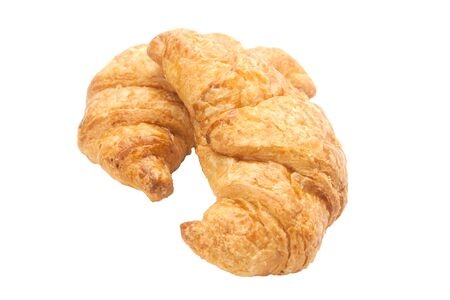 french culture: croissant isolated on white background