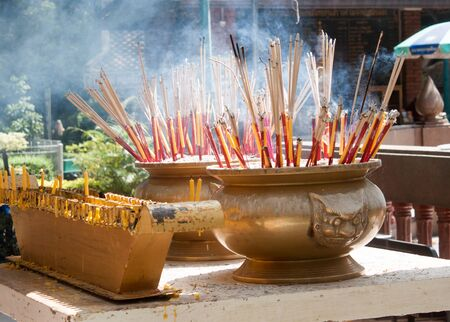 beliefs: Incense to worship the sacred beliefs of Buddhists.