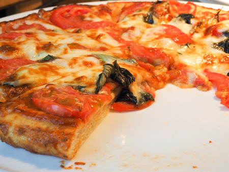 lifted: Pizza lifted slice