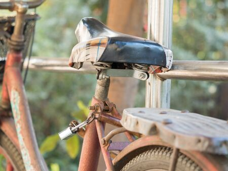 bicycle lock with the pole