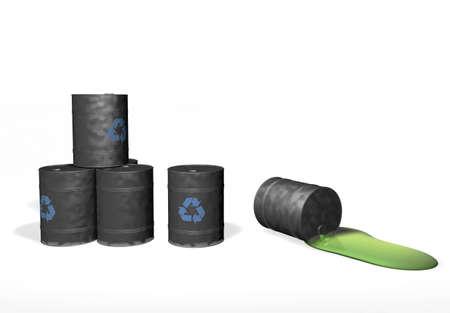 tun: recycle. tun oil. barrel. pollution