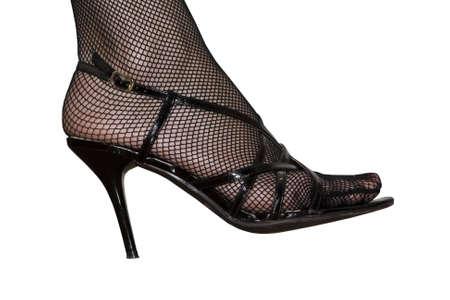 heelpiece: Womens foot in the shoe