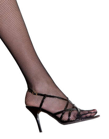 heelpiece: Womens leg in the shoe