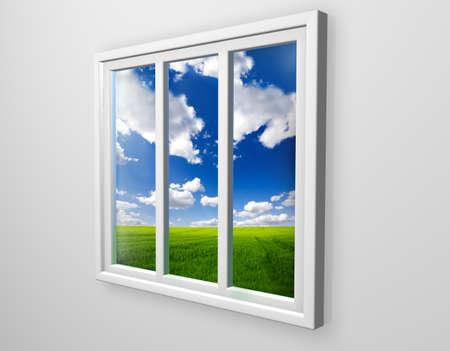 white window: White window
