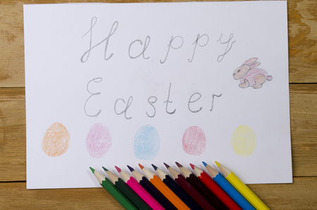doctrine: the child drew a congratulation on Easter