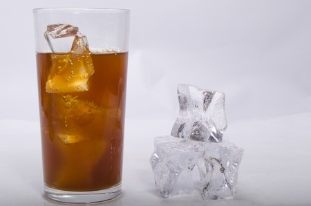 stake: whisky of a stake and ice alcoholic drink