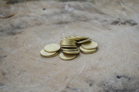 coinage: cold coinage at the home hardware outdoor Stock Photo