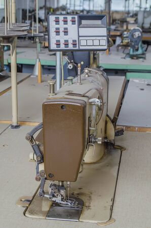 clean room: garment factory with the old equipment in the clean room