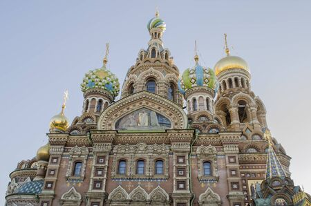 savior: The Church of the Savior on Spilled Blood, one of the main sights of St. Petersburg, Russia. This Church was built on the site where Tsar Alexander II was assassinated and was dedicated in his memory.