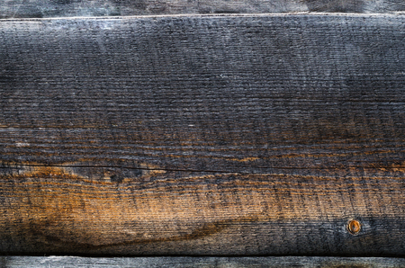 black old wooden board background top view Banco de Imagens