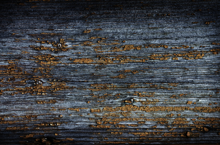 background of old wooden board with cracked paint outside Banco de Imagens