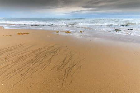 Sandy beach on the Atlantic coast in France.