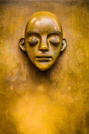 metallic: Gold statue Stock Photo