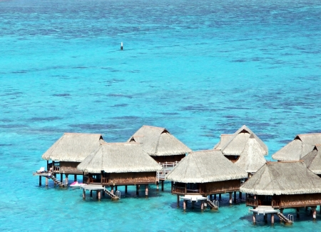 Overwater Bungalows in Tahiti photo