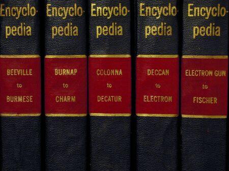 directory book: Encyclopedia Stock Photo