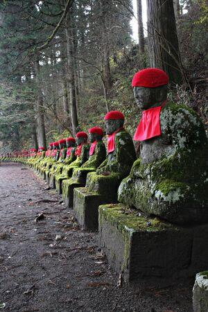 jizo: Jizo Statues in Nikko, Japan