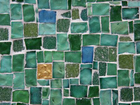 turqoise: Green tile background