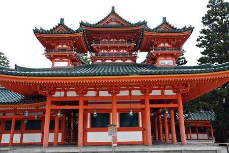 shrine: Heian Shrine - Kyoto Stock Photo