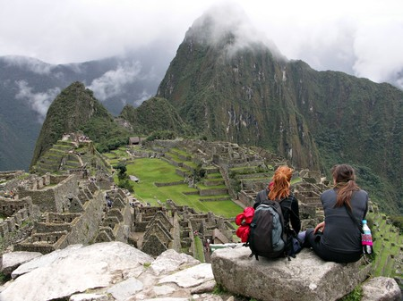 incan: Machu Picchu on a cloudy day