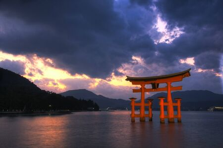 torii: Torii gate at Miyajima, near Hiroshima - Japan Editorial