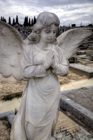 Beautiful sculpture at a cemetery in Melbourne Australia  photo
