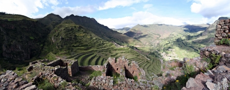 Ruins at Pisac in Perus Sacred Valley photo