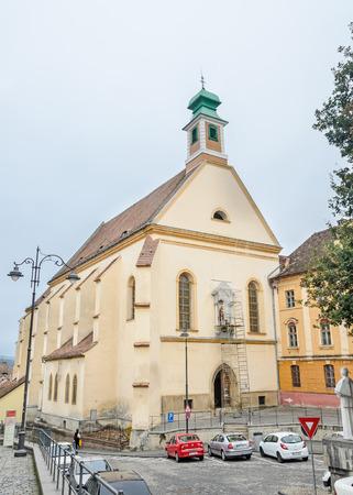 rumanian: SIBIU, ROMANIA - AUGUST 10, 2016: The Church Ursulinelor (Biserica Ursulinelor)
