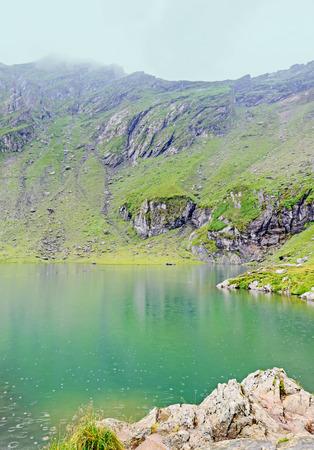 Balea Lake glacier lake situated at 2034m altitude in the Fagaras Mountains, Sibiu County.