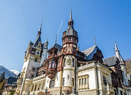 SINAIA, ROMANIA - MARCH 21, 2015: The Castle Peles, own by Regele Mihai (King Michael) of Romania, now works as museum.